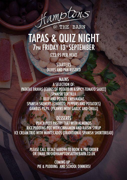 Tapas & Quiz Night